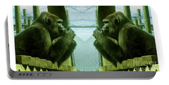 Monkey See Monkey Do Portable Battery Charger by Nina Silver