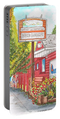 Mono Market Near Mono Lake In Lee Vining-california Portable Battery Charger by Carlos G Groppa