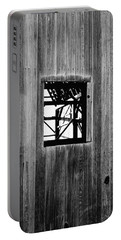 Portable Battery Charger featuring the photograph Monroe Co. Michigan Barn Window by Daniel Thompson