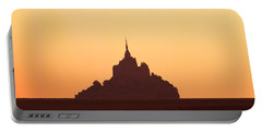 Mont Saint-michel At Sunset, Manche Portable Battery Charger
