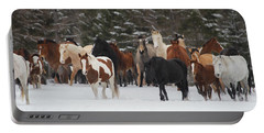 Montana Herd Portable Battery Charger by Diane Bohna