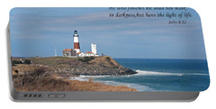 Montauk Lighthouse/camp Hero/inspirational Portable Battery Charger