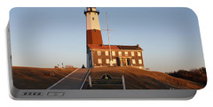 Montauk Lighthouse Entrance Portable Battery Charger by John Telfer