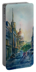 Montreal Skyline Portable Battery Charger by Debbie Lewis