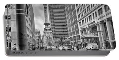 Portable Battery Charger featuring the photograph Monument Circle by Howard Salmon