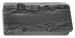 Portable Battery Charger featuring the photograph Monument Valley 4 Bw by Ron White