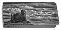 Portable Battery Charger featuring the photograph Monument Valley 6 Bw by Ron White