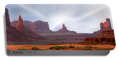 Monument Valley At Sunset Panoramic Portable Battery Charger