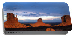 Monument Valley @ Sunset 2 Portable Battery Charger by Jeff Brunton