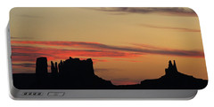 Monument Valley Sunset 1 Portable Battery Charger