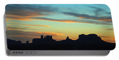 Monument Valley Sunset 4  Portable Battery Charger