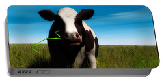 Portable Battery Charger featuring the digital art Moo... by Tim Fillingim