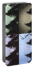 Portable Battery Charger featuring the photograph Moon And Tree by Photographic Arts And Design Studio