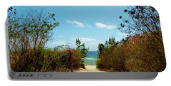 Portable Battery Charger featuring the photograph Moon Bay Walk by Amar Sheow