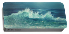 Moon Beach Painting Portable Battery Charger