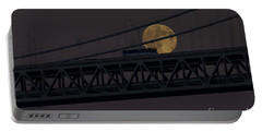 Portable Battery Charger featuring the photograph Moon Bridge Bus by Kate Brown