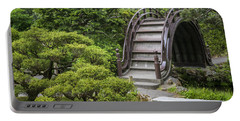 Moon Bridge - Japanese Tea Garden Portable Battery Charger by Adam Romanowicz
