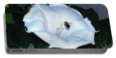 Portable Battery Charger featuring the photograph Moon Flower by Thomas Woolworth