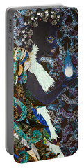 Moon Guardian - The Keeper Of The Universe Portable Battery Charger by Apanaki Temitayo M