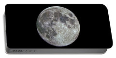 Portable Battery Charger featuring the photograph Moon Hdr by Greg Reed
