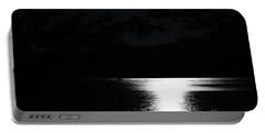 Moon On Waterton Lake Portable Battery Charger