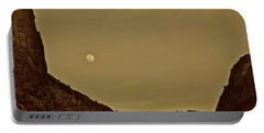 Moon Over Crag Utah Portable Battery Charger