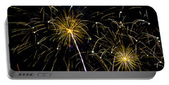 Moon Over Golden Starburst- July Fourth - Fireworks Portable Battery Charger