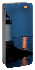 Moon Over Winter Island Salem Ma Portable Battery Charger
