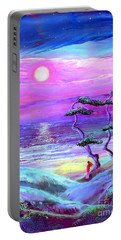 Moon Pathway,seascape Portable Battery Charger