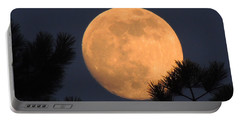 Portable Battery Charger featuring the photograph Moon Pines by Charlotte Schafer
