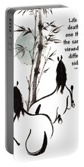 Portable Battery Charger featuring the painting Moon Reverence With Lao Tzu Quote I by Bill Searle