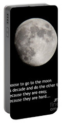 Moon Speech Portable Battery Charger by Kenny Glotfelty
