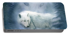 Moon Spirit 2 - White Wolf - Blue Portable Battery Charger