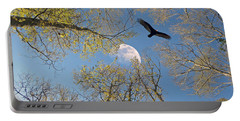 Portable Battery Charger featuring the photograph Moon Trees by Savannah Gibbs