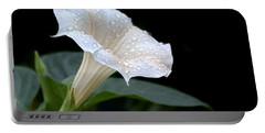 Moonflower - Rain Drops Portable Battery Charger by Nikolyn McDonald