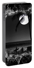Portable Battery Charger featuring the photograph Moonlight Surf by Athala Carole Bruckner