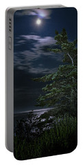 Moonlit Treescape Portable Battery Charger by Marty Saccone