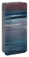 Moonlit Waves At Dusk Portable Battery Charger by Jani Freimann