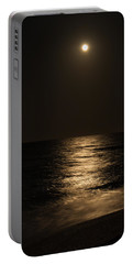 Moon Over Water Portable Battery Charger by John M Bailey