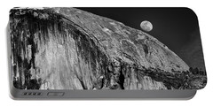 Moonrise Over Half Dome Portable Battery Charger