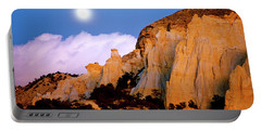 Moonrise Over The Kaiparowits Plateau Utah Portable Battery Charger by Ed  Riche