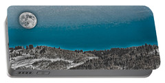 Portable Battery Charger featuring the photograph Moonrise Over The Mountain by Don Schwartz