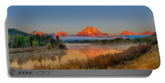 Moonset Over Oxbow Bend Portable Battery Charger
