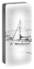 Moored Boats Monhegan Island Portable Battery Charger