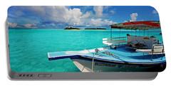 Moored Dhoni At Sun Island. Maldives Portable Battery Charger