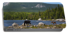 Moose Baxter State Park Maine Portable Battery Charger