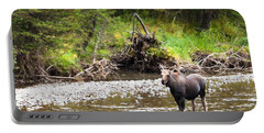 Moose In Yellowstone National Park   Portable Battery Charger