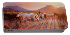 More Than Light Arizona Sunset And Wild Horses Portable Battery Charger