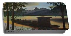 Morning At Lake Mcdonald Glacier Park Portable Battery Charger