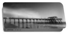 Portable Battery Charger featuring the photograph Morning At Tybee Island Pier by Frank Bright